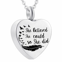 Cremation Urn Jewelry She Believed She Could So She Did Neck...