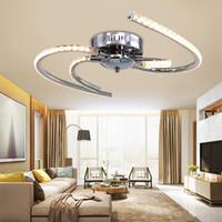 Crystal nueva LED lámpara de techo lamparas de techo colgante de las luces K9 LED de la lámpara por estar Sala de dormitorio de la lámpara de techo Iluminación para el hogar