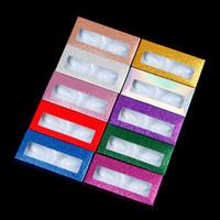 25mm Mink pestañas Lash caja de empaquetado con estilo de la cara bandeja vacía la caja Pestañas de papel 10 colores de embalaje caja de pestañas coloridas cajas de pestañas