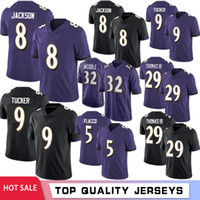8 Lamar Jackson Football Jerseys 29 Earl Thomas 15 Marquise ...