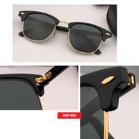 2020 الجملة مصنع جودة TOP مصمم النظارات الشمسية الكلاسيكية النساء الرجال HD عدسة قيادة النادي نظارات شمسية UV400 سيد 51mm gafas سول