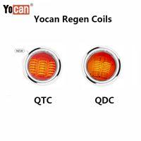 Оригинальный yocan Regen qtc катушки кварцевый Tri QDC двойная катушка для воска чистый пар 5шт / пакет