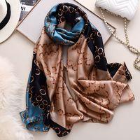 2020 Frühlings-weiche Silk Bandana Foulard Bufanda Mujer Digital Print Gürtel Schal Frauen-Marken-Hijab-Schal Neu