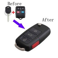 3 + 1 кнопки модифицированного складной флип полный дистанционный ключ для Ford CWTWB1U345 CWTWB1U331 Keyless Entry 433/315 МГц ID63chip