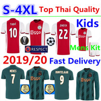Ajax Soccer Jersey Long Shirts 2019 20 TADIC Home Football T...