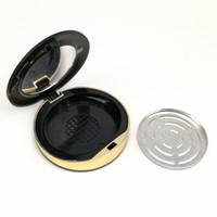 Kunststoff Leere Lidschatten Fall Blusher Fall Round-Puder-Kosmetik Compact Behälter leer Beauty-Verpackungs-Kasten F3756