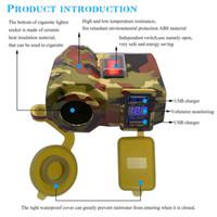 IV Handy-Ladegerät Zigarettenanzünder USB-Voltmeter-Auto-Ladegerät 4.2A Wasserdicht für Motorrad-Auto