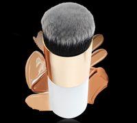 Pinceaux de maquillage à tête ronde portative pour la crème BB Crème Visage Soft Cheveux Foundation Brosses 6 Couleurs Cosmétiques Brosses Outils