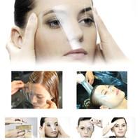 50 sztuk / zestaw jednorazowych włosów Pro salon plastikowa maska do włosów Tarcza Oczy Ochraniacz