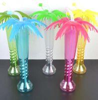جوز الهند شجرة النخيل يارد كأس شاطئ هاواي أطفال حزب غطاء سترو كاب شاطئ حزب ديكور زجاجة LJJK2210