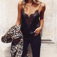 Moda Kadınlar Bayanlar Yaz Dantel Off-omuz Bluzlar Kadınlar Siyah Kolsuz Tank Tops Casual Bluzlar Tops