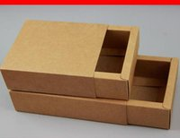 20PCS LOT Kraft Paper Drawer Box Gift Kraft Folding Blank Br...