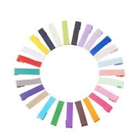 Tropfenverschiffen 45 MM Multi Color Haarspangen Ripsband Bedeckt Alligator Clip Für Kinder Mädchen Haarschleifen Material Barrette 200 stücke
