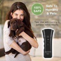 بالموجات فوق الصوتية للتدريب الكلب التحكم مبيد الحشرات المدرب الأجهزة 3 في 1 الكلاب لمكافحة النباح جهاز توقف النباح روادع تدريب الحيوانات الأليفة
