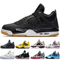 Cool Grey FIBA Bred 4s IV 4 Mens Basketball Shoes Travis Sco...