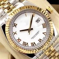 Datejust 3640 mm à glissement automatique lisse La montre Jubilee pour homme Montres à cannelures fixes en or blanc de 18 carats - Aiguilles ton argent Signe de la mode