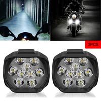 새로운 2pcs 오토바이 LED 헤드 라이트 램프 전구 LED 전기 자전거 자전거 울트라 밝은 헤드 라이트 차량 주간 실행 조명