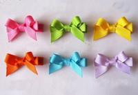Preciosas horquillas de los arcos del pelo clips del arco iris para chicas niños hijos de pico de pato horquilla del color del caramelo mini Barrettes Accesorios FJ3212
