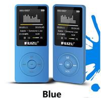 Versão Original Inglês ultrafinos MP3 Player com 8GB de armazenamento e 1,8 polegadas tela pode jogar 80h, Original RUIZU X02 DHL