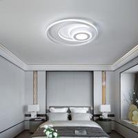 2019 الأبيض الحديثة أدى الإضاءة الثريا لغرفة النوم غرفة المعيشة غرفة الطعام الاكريليك بريقا luminaria lampadario الثريا السقف