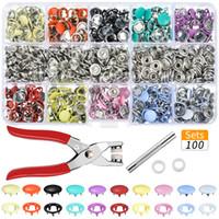Imposta Hoomall 100PCs / 10 colori bottoni in metallo da cucire bottoni mestiere di cucito chiusura a scatto Pinze utensili del mestiere Pulsanti per i vestiti