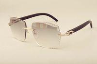 3524014 doğal siyah ahşap güneş gözlüğü oyma lensler, özel özel, kazınmış Yeni fabrika doğrudan lüks moda güneş gözlüğü