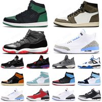 2020 retro bred 11s mens 농구화 1 1s unc 4s cactus jack 5s fire red trainer 스포츠 스니커즈