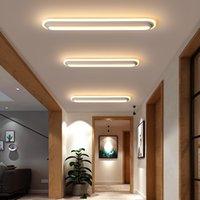 Moderne LED-Deckenleuchten für Wohnzimmer Schlafzimmer Arbeitszimmer Raum Korridor Weiß schwarze Farbe Aufbaudeckenleuchte AC85-265V