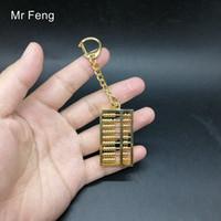 Mini Abacus Arithmétique Mathématiques Outils de calcul jouet éducatif Culture chinoise Collection Hobby Cuivre Modèle Métal Toy Nouveauté / H452