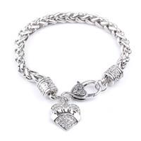 Pulsera Mujeres Moda JG1 MOM HERMANA MIMI NANA miembro de la familia corazón de la calidad superior caliente de la joyería de plata esterlina del envío 3038