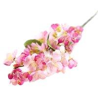 Yüksek Kaliteli Ipek Çiçek Yapay Kiraz Bahar Erik Şeftali Çiçeği Şube Ev Düğün Dekoratif Çiçekler Plastik Buket