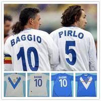 Rétro 03 04 Brescia Calcio Soccer Jerseys Caracciolo Baggio Pirlo di Biagio Futbol Mauri Vintage Football Camiseta Chemise classique 2003 2004
