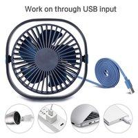 Raffreddatori ad aria portatile da 3 velocità USB Desktop Desktop Fan con angolo regolabile a rotazione 360 per ufficio e viaggi in famiglia è un must