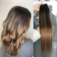 Ombre Human Hair Extensions Brasilianisches peruanisches malaysisches indisches indianisches Stiangth Balayage Brown Blonde T2 / 6 # Ombre Hair Weave Bundles