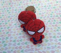 10pcs lot 10cm avengers spider man plush pendant spider man ...
