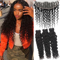 9A Water Wave Brazilian Virgin Hair With 13x4 Ear To Ear Lac...