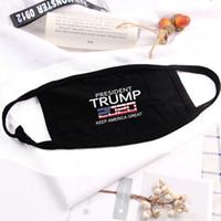 Stati Uniti Stock TRUMP Maschere Stampa Cotone Designer viso per estate bandiera americana di moda Trump Stampa bocca maschera Ciclismo Sport antipolvere Maschere