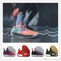 Hot 2018 Llegada James Harden 2 Vol.2 Zapatillas de baloncesto para hombre Wolf Grey Sports Basket Ball Sneakers Training Size 7-11.5
