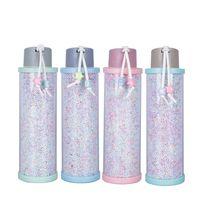 310ml schiuma plastica Perle bottiglia di acqua creativa della tazza di vetro di prevenzione delle fuoriuscite di colore della caramella della chiavetta portatile Uomini Donne Tazza LJJA3135