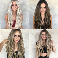 Synthetic Mulheres Long peruca completa Natural Curly Wavy tão real Cabelo Cosplay Perucas
