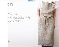 10pcs bata pinaforel vestir japão Aprone linho Coreia do Sul de alto grau de tecido avental beleza loja de salão de beleza restaurante roupa avental
