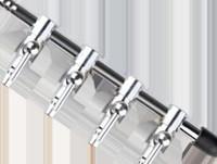Valvola di controllo del gas in acciaio 5MM Pompa di ossigeno dell'acquario Serbatoio Distributore di ossigeno Accessori Accessori Valvola di controllo del volume dell'aria Aria Shunt Pompa di aria Shunt