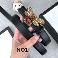 Küçük arı Kemerler Arılar Kemer Casual Box Seçeneği ile Toka Moda Kemerler 24mm Yüksek Kalite Genişliği 6 Modeller Smooth Womens