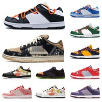 SB Dunk Low Pro Travis Scott Safari Strangelove White Black Pink Herren Skate Schuhe Sneakers Trainer Sport Dunks Damen Schuhe Größe 36-45