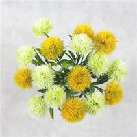 Diente de león flor artificial Para Tallo Una sola Plant Simulation plástico floral Decoraciones jardín de la boda de mesa Centros de mesa