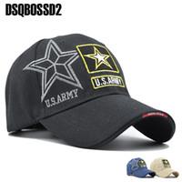 Cap DSQBOSS2 Navy Seals Army Cap táctico Carta bordado gorra de béisbol del sombrero del Snapback US NAVY Para Hombres Mujeres sombrero del papá mayorista