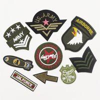90pcs Ordu Askeri Insignia Amblemler Aplikler diker / Demir-on Yamalar Rozetleri DIY