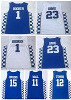 Discount Günstige MEN Kentucky College-Trainers 1 BOOKER 23 DAVIS Basketball Jerseyshemden, 3 Adebayo 11WALL 15 COUSINS 0 FOX 12 Städte Wears