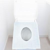 Desechable del inodoro cubiertas impermeables envuelta individualmente asiento del recorrido del WC Cubiertas para Formación baños públicos para ir al baño