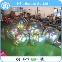 شحن مجاني 1M كبيرة عيد الميلاد كروم الكرة الهواء الفضة نفخ بالون / الذهب نفخ الكرة مرآة الديكور للبيع